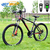 Mountain bike aluminum mountain bike 27 speed change bicycle LED intelligent biking mountain bike micro transmission bicycle