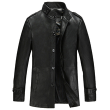 Bestselling Fashion Male Leather Jackets With Button Men's Faux Leather Jackets and Coats Free Shipping Male PU Windbreaker C258