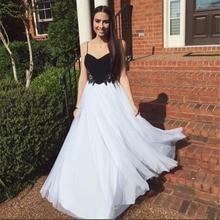 Weiß und Schwarz Abendkleid für Graduation Eine Linie Apliqued Ügel-Chiffon-Backless Abendkleid abendkleider kurz 2017