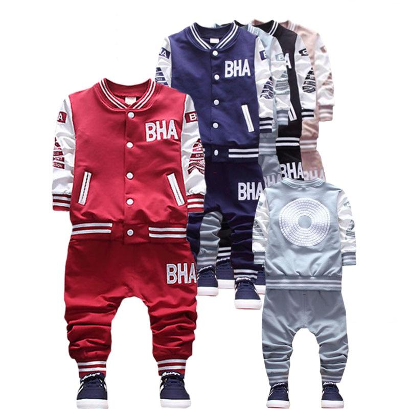 malé dítě chlapec oblečení jaro a podzim sezóna oblek nový kreslený tisk kvalitní sportovní oblečení bavlna baby1-5 y děti nosí