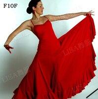 Women Flamenco Dancing Skirt Black Red Lady Spain Bullring Dance Dress Adult Custom Made Stage Ballroom Competition Dresses