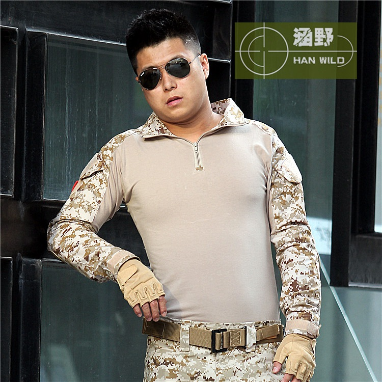 Tactical Desert digi Camouflage Military Uniform Clothes  Men US Army Multicam Hunting Military Combat Shirt + Pants + Knee Pads a tacs tactical combat uniform gen3 shirt pants military army pants with knee pads size s xxl acu multicam woodland digi camo