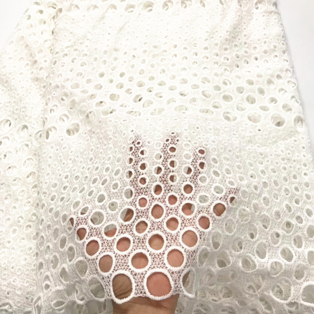 white colour milk silk 5yards water soluble lace fabric good quality guipure lace fabric for clothes