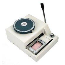 Гарантия 100% новое руководство 70 символов Магнитная ID ПВХ пластиковая VIP устройство для тиснения машина