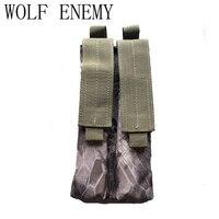 Tactical 600D Molle Double Military P90 Magazine Pouch Multicam Black ACU DE Woodland Camo