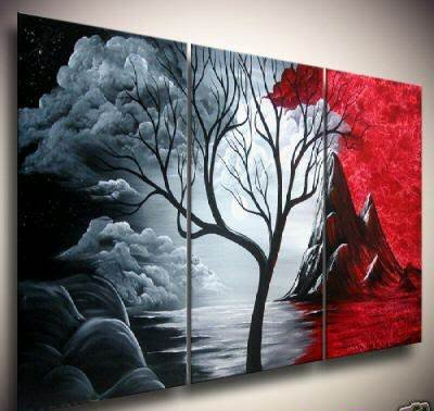 hand painted artwork The Cloud tree High Q Wall Decor Modern