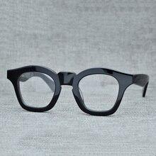 2fe213ef4 Cubojue نظارات بمادة الخلات الرجال النساء خمر سميكة النظارات إطارات رجل  وصفة طبية الأسود السلحفاة النظارات