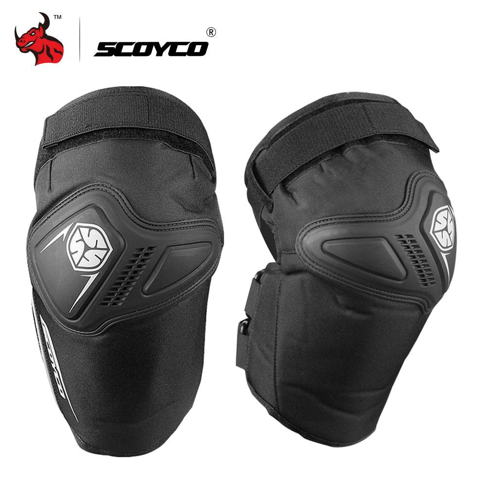SCOYCO Motorcycle Knee Pads Motocross Knee Protector Guard MTB Ski Protective Gear Kneepad Moto Knee Protective Gear