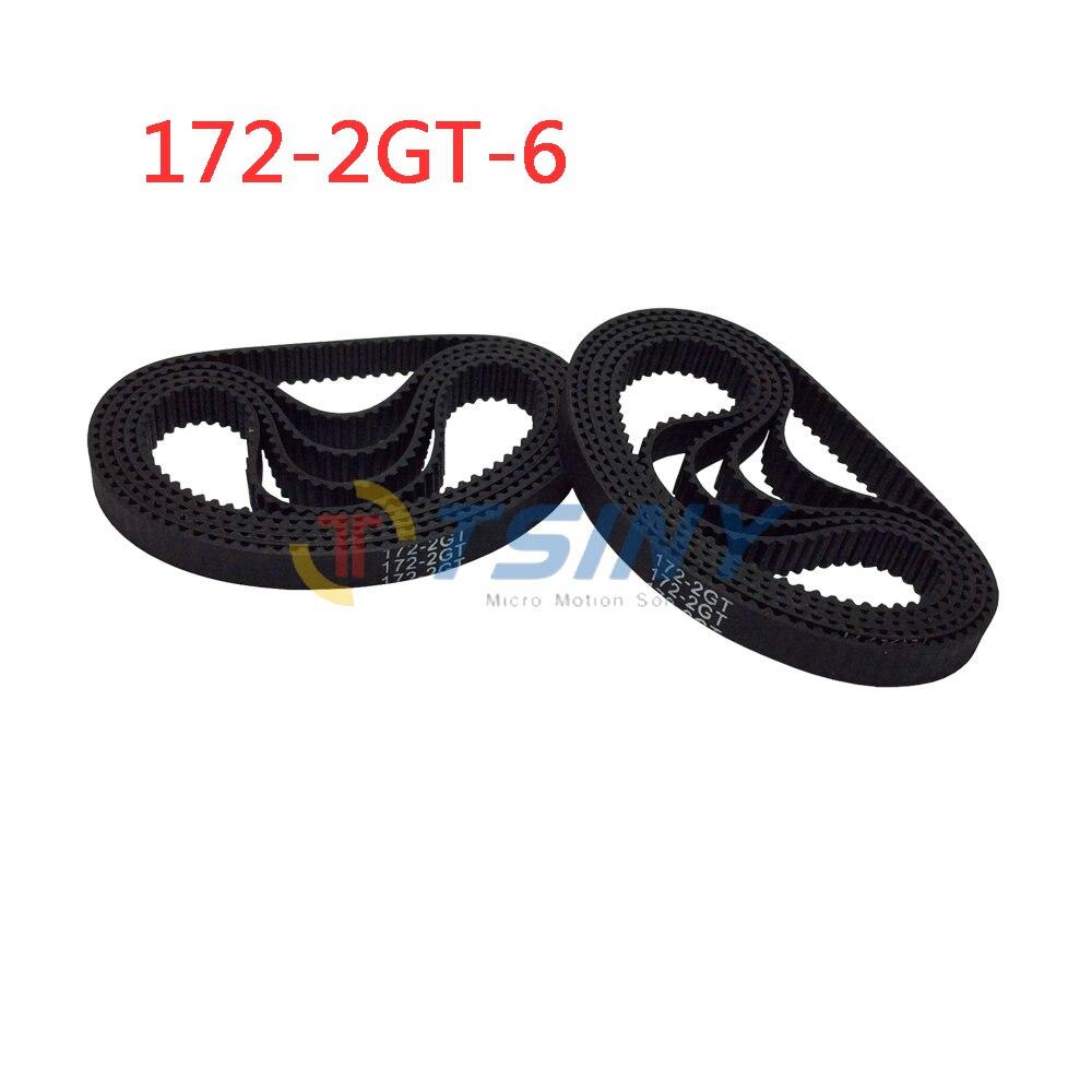 c43e9635fc34 HTD GT2 Courroie de distribution Annulaire Synchrone Ceinture 2GT-172-6  Longueur 176mm Ceinture Largeur 6mm Dents Nombre 86 Pack de 10 pcs