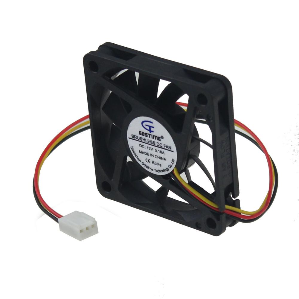 Gdstime 1 Piece 6cm DC 12V PC Fan 60mm x 10mm 3 Pin FG Computer Case VGA CPU Heatsink Brushless Cooling Fan 60x10mm 6010 gdstime 10 pcs dc 12v 14025 pc case cooling fan 140mm x 25mm 14cm 2 wire 2pin connector computer 140x140x25mm