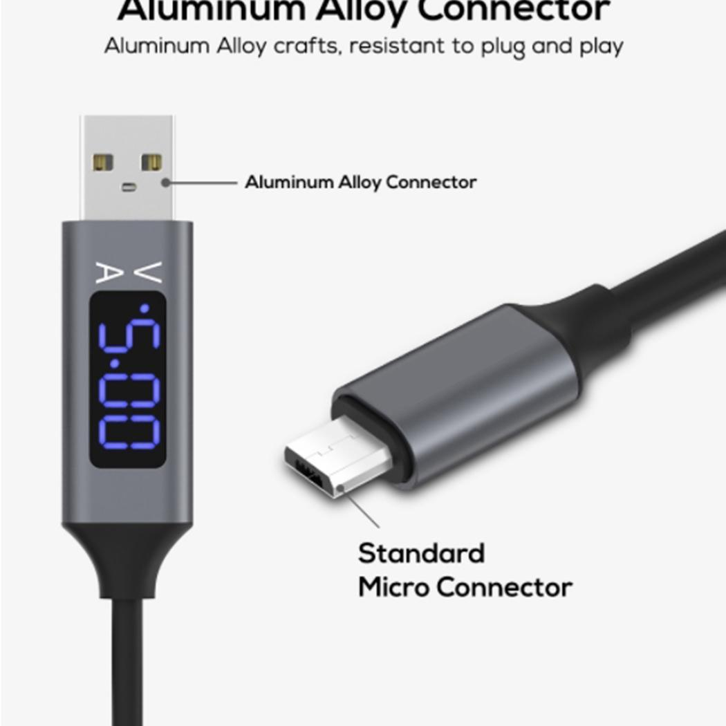 Micro USB Cable Intelligent Display Fast Charging Data Cable Type Line for Android For Type C For Samsung Xiaomi Huawei 1 Meter in Mobile Phone Cables from Cellphones Telecommunications