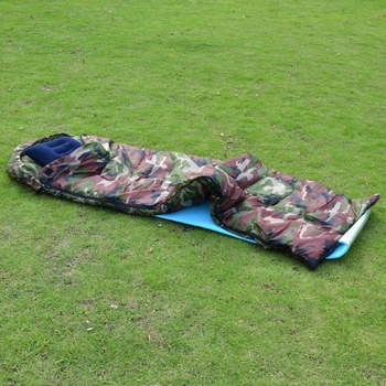Outdoor Adult Cotton Camping Sleeping Bag Envelope Style Camouflage Warm Waterproof Travel Hooded Sleeping Bags 5