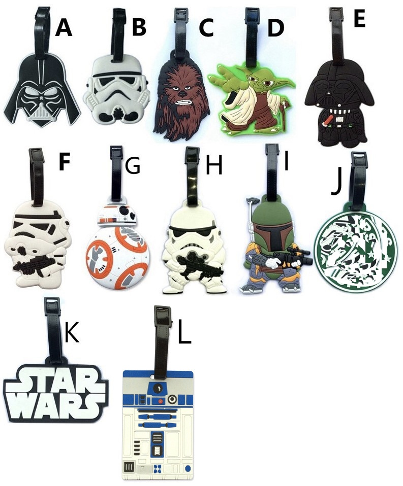 2018 Promotion New Suitcase Koffer Luggage Cover Travel Accessories Cartoon Luggage Tag Star Wars Darth Vader Pawns Check Tags