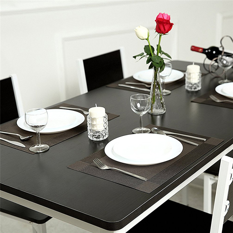 4Pcs/lot 45*30cm Placemat pvc dining table mat disc bowl coasters waterproof table cloth pads slip-resistant pad