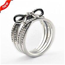 2016 de la madre colección delicado sentimientos económicos anillos de plata con Clear CZ 100% 925 joyería de plata DIY venta al por mayor 08R089