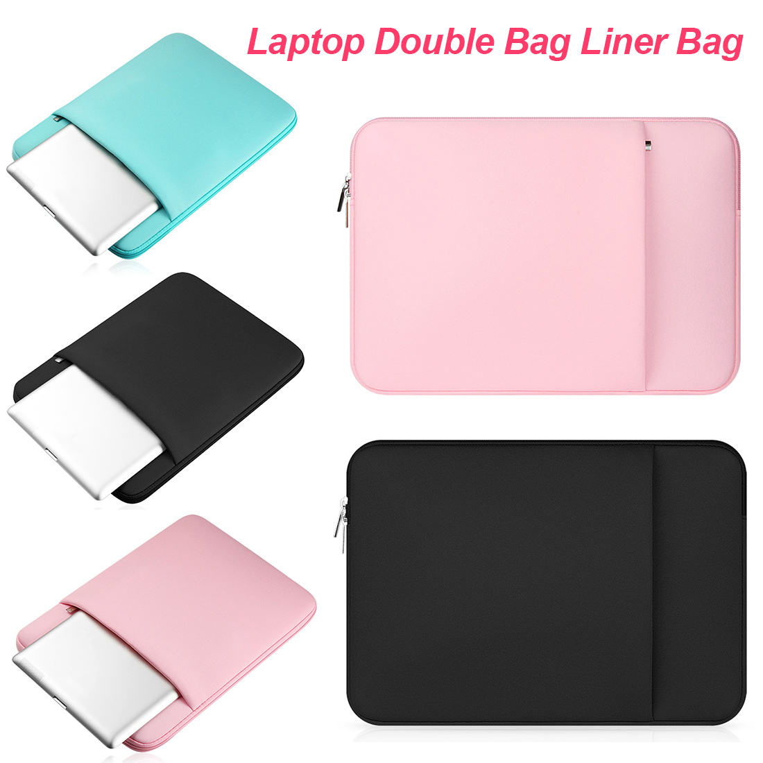 Portable Nylon Laptop Sleeve 14 15.6 Inch Notebook Bag 13.3 For MacBook Air Pro 13 Case Laptop Bag 11 13 15 Inch Protective Case