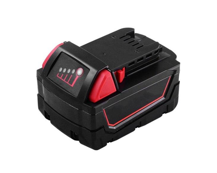 LED Digital Display 6000mah Li-ion Battery for Power tool Milwaukee M18 M18B Free Shipping цена и фото