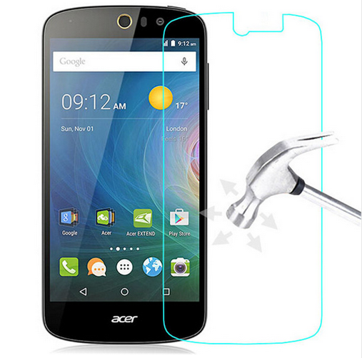 9H Clear Front Tempered Glass For <font><b>Acer</b></font> <font><b>Liquid</b></font> <font><b>Z530</b></font> Zest Plus Z6 Z630 ZEST Screen Protector Film <font><b>Case</b></font> + Cleaning Kit