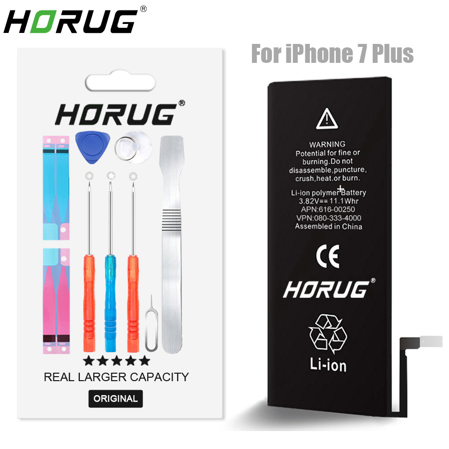 2019 NEW HORUG 100% Original Mobile Phone Battery For iPhone 7 Plus Battery Original 2900 Capacity Replacement Phone Batteries2019 NEW HORUG 100% Original Mobile Phone Battery For iPhone 7 Plus Battery Original 2900 Capacity Replacement Phone Batteries