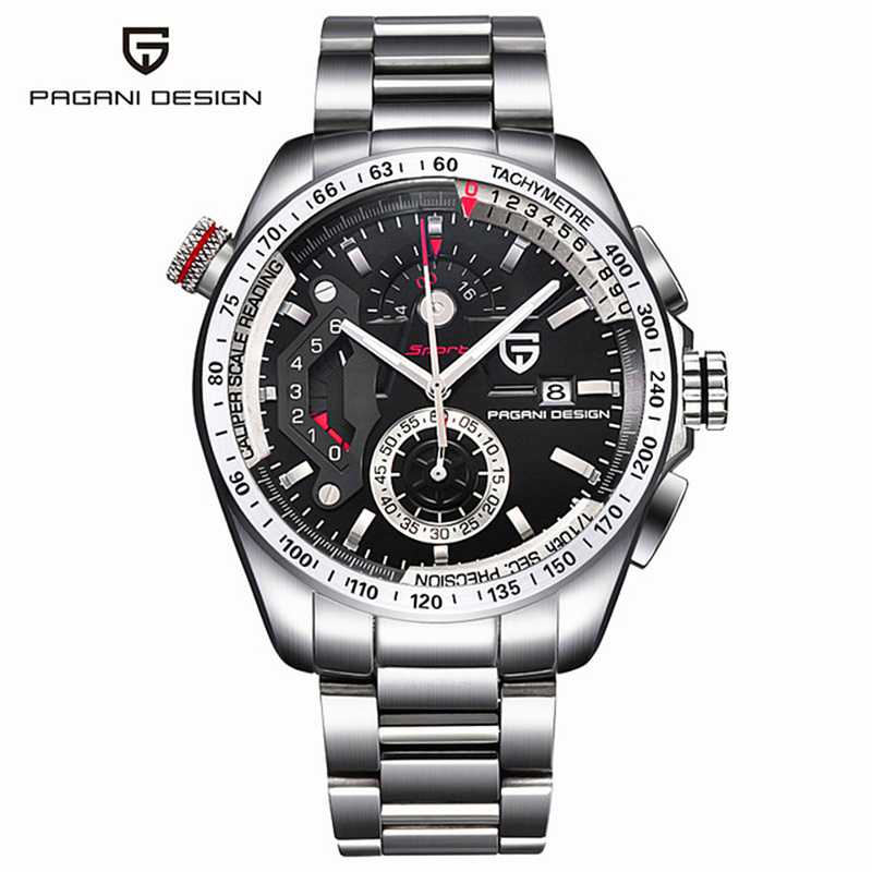 Reloj Hombre Pagani Design Full Steel Sports Watches Men Top Brand Luxury Multifunction Quartz Watches Clock Relogio Masculino reloj hombre pagani design sport leather strap watches men top brand luxury multifunction quartz watches clock relogio masculino