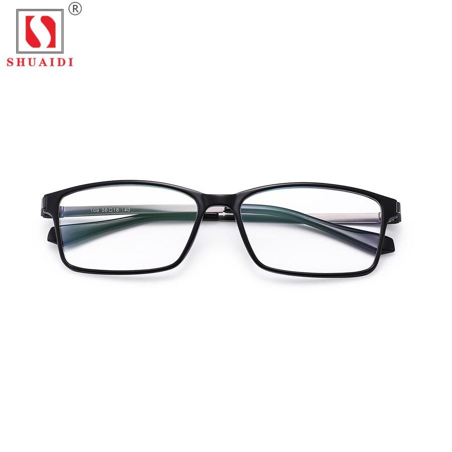 Ultra-light Comfy Stretch Reading Glasses Men Women Square Black ULTEM Frame Presbyopia Eyewear Anti Blue Light 109
