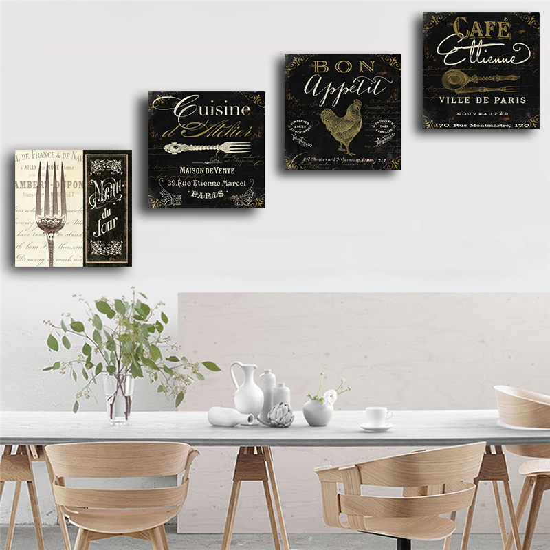 Vintage Bars Forks Cafe Posters and Prints Nordic Canvas Painting Scandinavian Wall Pictures for Living Room Kitchen Home Decor