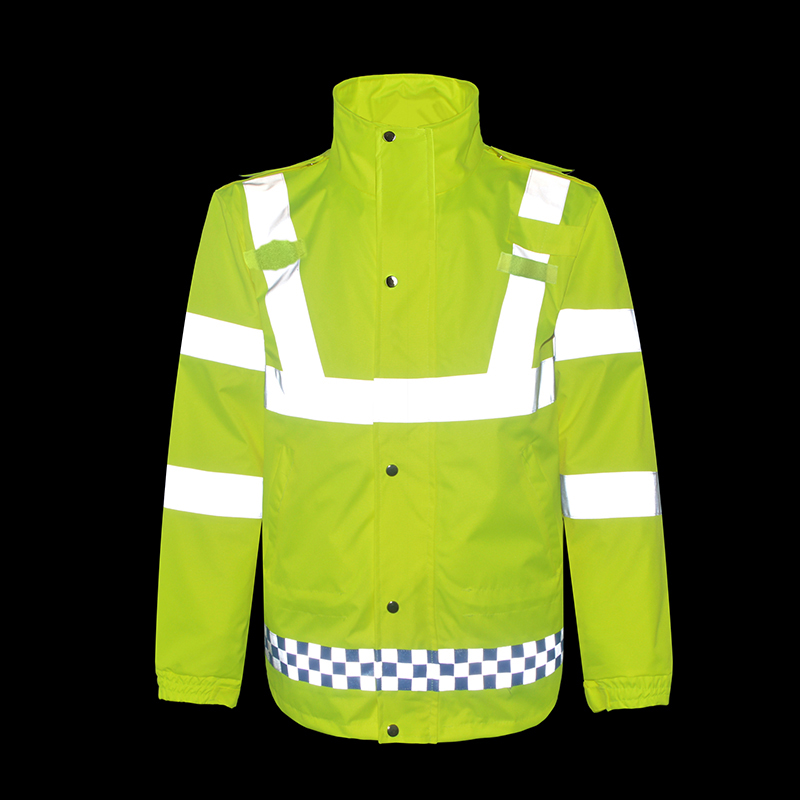 Waterproof Reflective Jacket High visibility Men Women Outdoor Working Tops Hooded Fluorescent Clothing Safety Workwear Raincoat