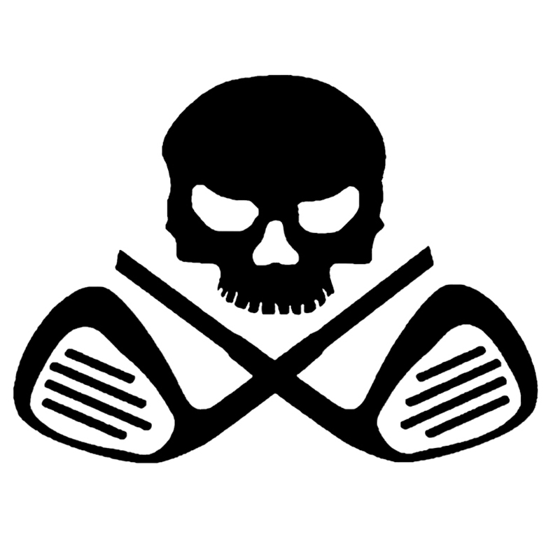 Rylybons Scary Car Sticker Funny 12 14cm Skull Golf Decor Decals Car Motorcycle Home Window Body Sticker And Decals Styling Car Sticker Car Sticker Funnystickers Funny Aliexpress