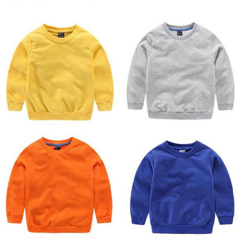 e07e290b8 10 colores 2-7 T caliente bebé niños ropa niños niñas Color caramelo  sudadera niños primavera ...