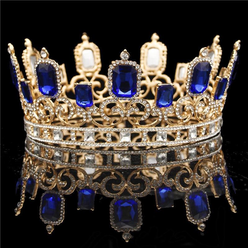 Wedding Crown Hair: Baroque Bride Tiara Crown For Wedding Hair Jewelry Queen