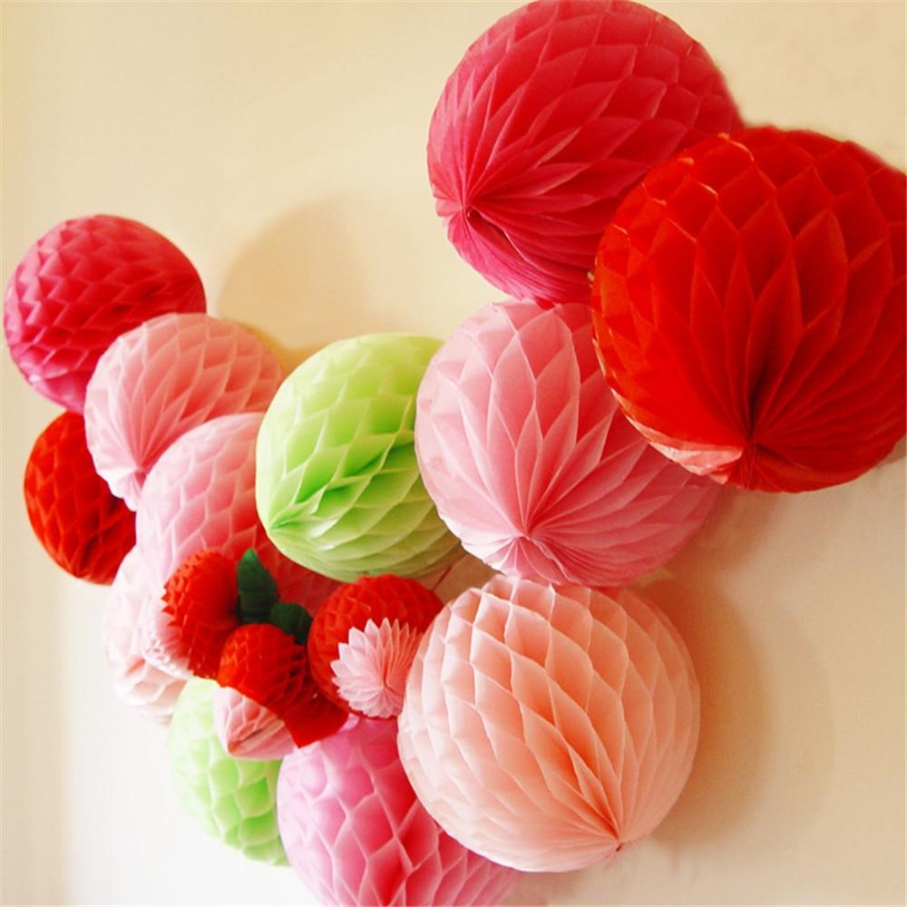 1 unids / lote 15 CM navidad Honeycomb Balls decoraciones de la - Para fiestas y celebraciones - foto 2