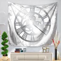Personalizzato Orologio Puntatore Serie di Arte Della Parete Arazzo Casa Soggiorno Parete Decorativa Hanging Ufficio Sciarpa Coperta
