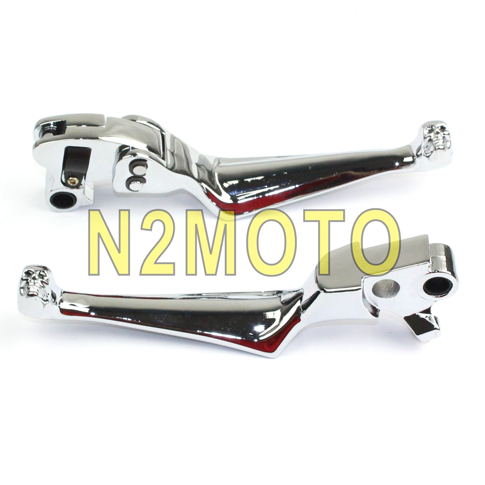 Motorcycles Chrome Aluminum Brake Clutch Lever For Harley Softail Dyna Electra Tour Road Street Glide Fxr2 R3 R4 1996-2013 Discounts Price