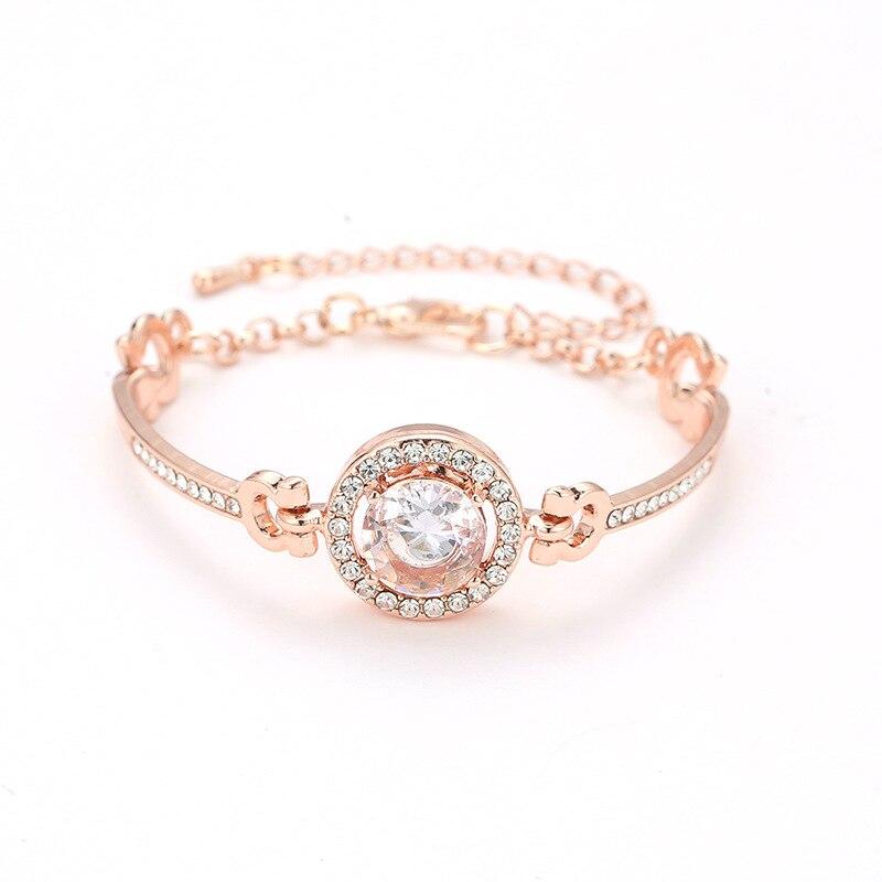 Роскошные браслеты из нержавеющей стали из розового золота, женские браслеты с сердцем, подвеска любовь, браслет для женщин, пара, женская бижутерия в подарок - Окраска металла: 10749