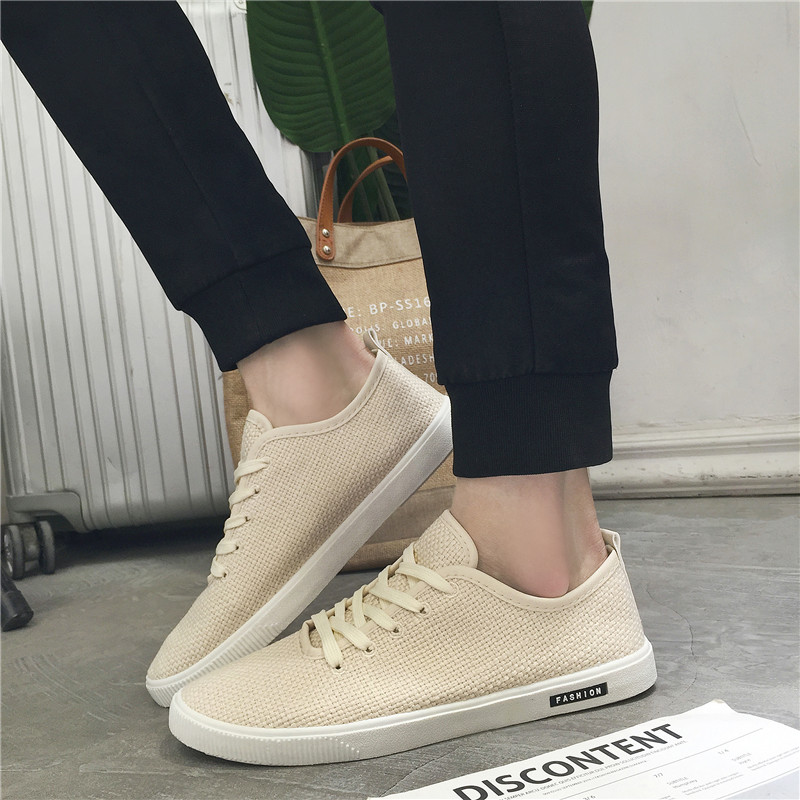 MIUBU Lowest price Fashion Men Casual Shoes Breathable Linen cotton Comfortable youth  summers light Adultos flat Footwear