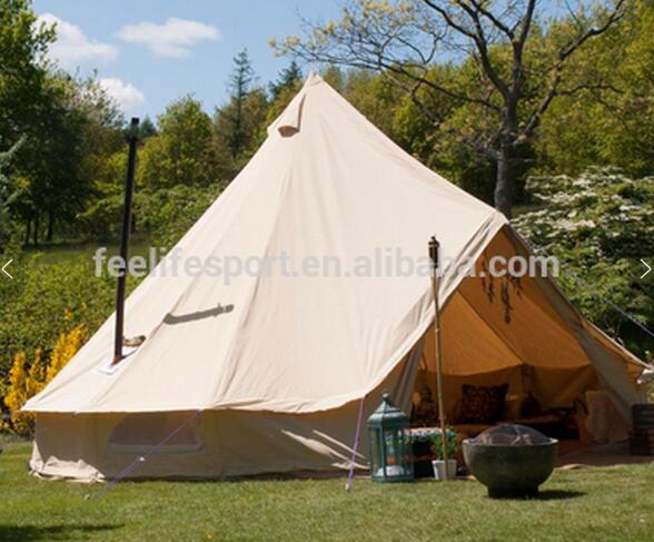 Бесплатная доставка! 6 м водостойкие хлопковые круглая холщовая палатка с отверстием для плиты