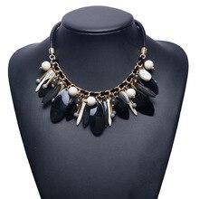 e3248140ed7c 2018 nueva moda negro colgante collar fornido para las mujeres barato  declaración Bib collares del traje YY0889