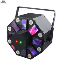 60W Led Stage Light Eight Eyes Multicolored Rotate Strobe Light KTV Bar Nightclub Private Room Stage Laser Light Red Green Blue