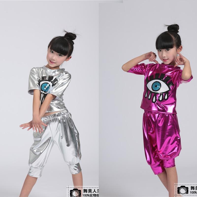 Girls Sequin Ballroom Jazz Hip Hop Dance Competition Costume Kid