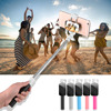 Fashion Mirror Selfie Stick For iphone 6 6s 5 Samsung IOS Android Monopod Universal Mini Portable Folded Wired Phone Self Sticks