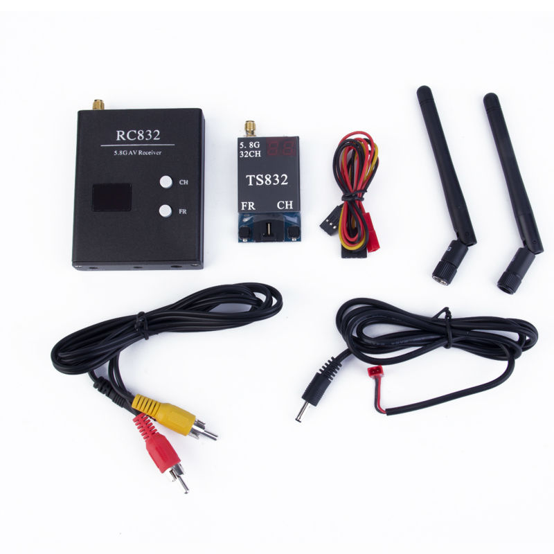 Boscam 32Ch 5.8G 600mw 5km Wireless AV Transmitter TS832 Receiver RC832 for FPV tx58 2w 40ch 5 8ghz wireless av transmitter rc58 40ch 5 8ghz wireless av receiver for fpv rc aircraft