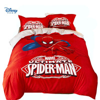 Marvel spiderman bed linens super hero boy gift adult comforter bedding queen twin full size 3/4/5pc red duvet cover set textile