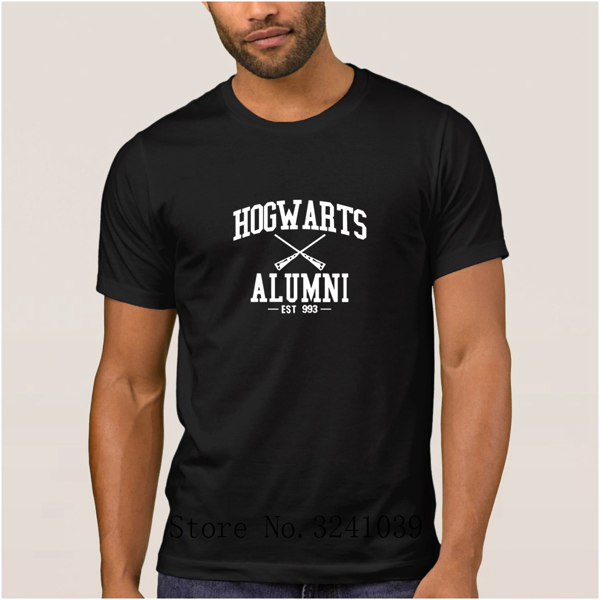 La Maxpa Customized Humor hogwarts alumni t shirt cartoon summer Fitness mens t-shirt mens Leisure tee shirt 100% cotton male