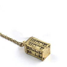 Doctor Who Silver/Bronze Tardis Necklace
