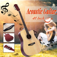 41 Inch Ballad Basswood Face Single Guitar Top Grade Single Board Acoustic Guitar With Original Guitar Accessory