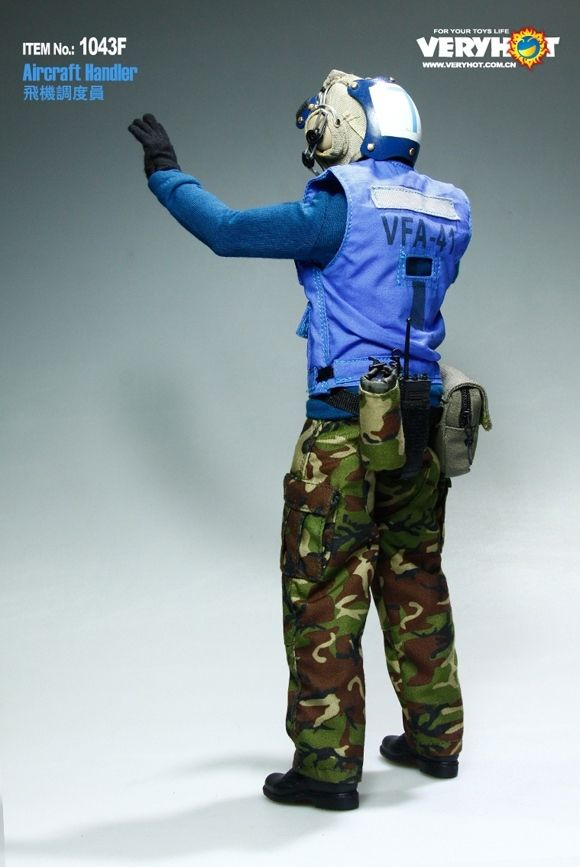 Very Hot US NAVY FLIGHT DECK CREW Aircraft Handler Set 1/6 IN STOCK(NO HEAD AND BODY)