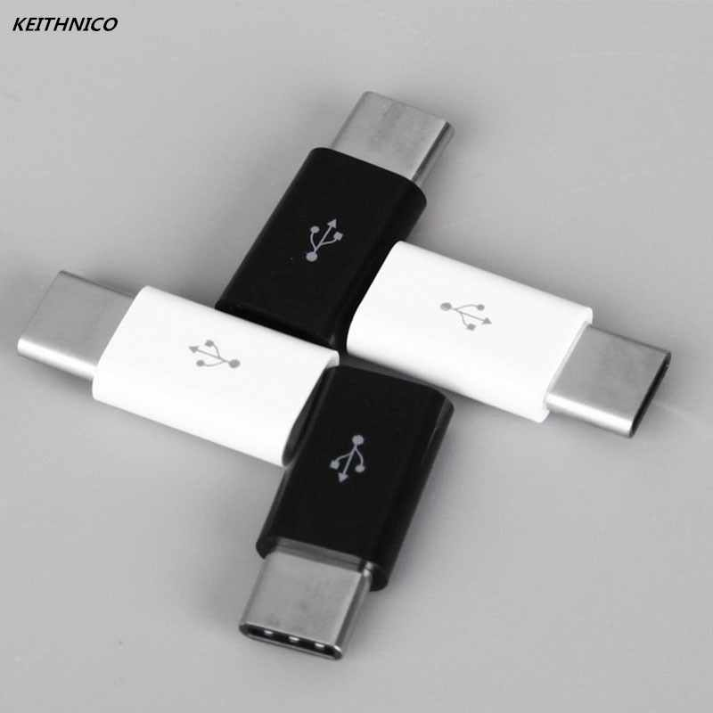 4Pcs Mini USB 3.1 Type C Male to Micro USB Female Adapter Converter Connector Charging Data Sync Transfer For Xiaomi Huawei