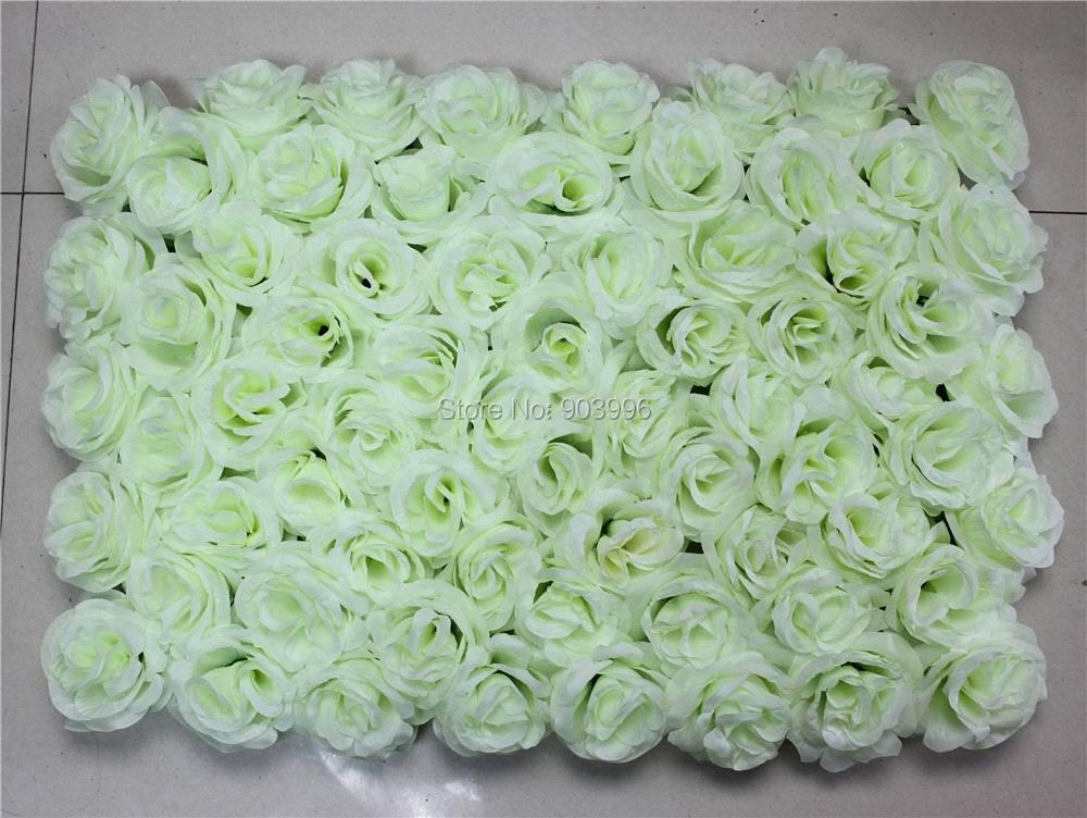 SPR EMS 무료 배송 60 * 40cm 인공 실크 장미 꽃 벽 결혼식 배경 잔디 / 기둥 꽃 가정 시장 장식