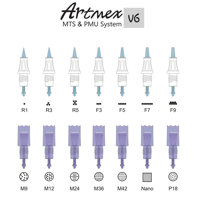 20pc-Artmex-V8-V6-V3-Needle-cartridges-MTS-Semi-permanent-makeup-tattoo-machine-spare-parts-M9 (1)