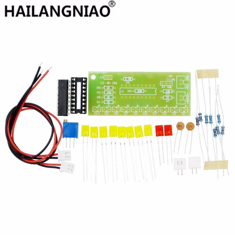 Hot Selling! 1 PCS Electronic diy kit LM3915 Audio Level Indicator DIY Kit Electronic Production Suite Good